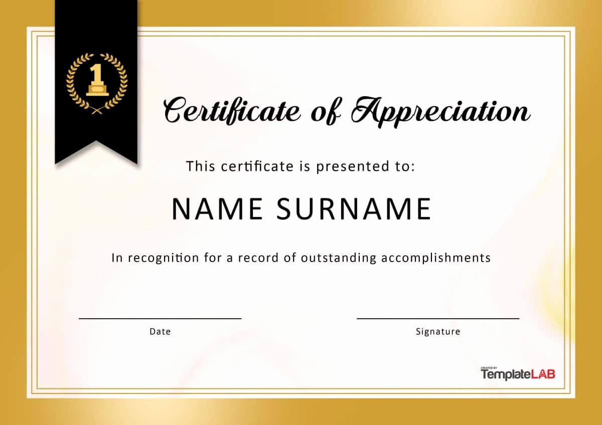 Template for Certificate Of Appreciation Best Of 30 Free Certificate Of Appreciation Templates and Letters