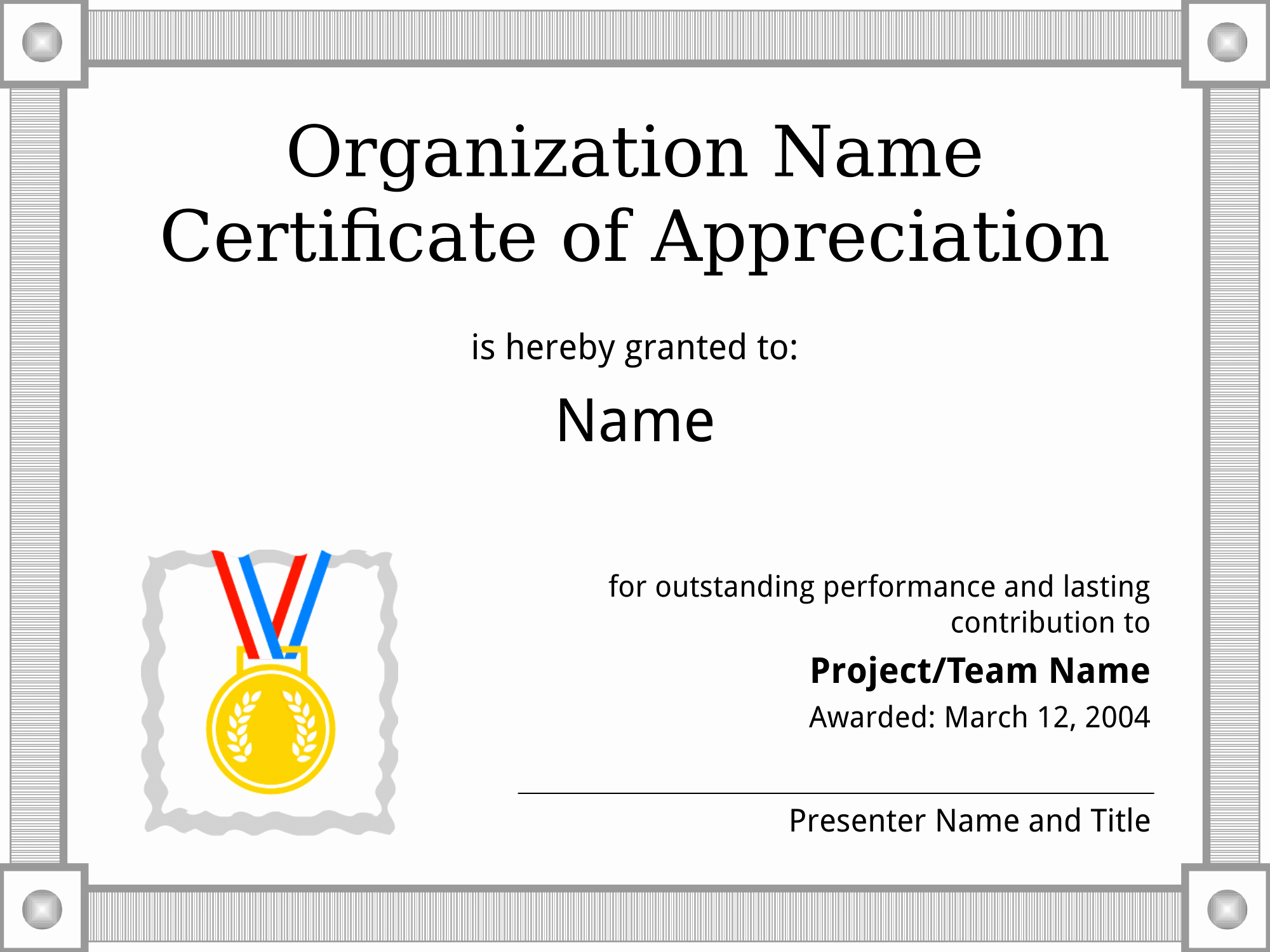 Template for Certificate Of Appreciation Best Of Certificates Download Free Business Letter Templates and