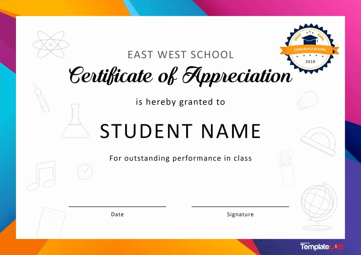Template for Certificate Of Appreciation Elegant 30 Free Certificate Of Appreciation Templates and Letters