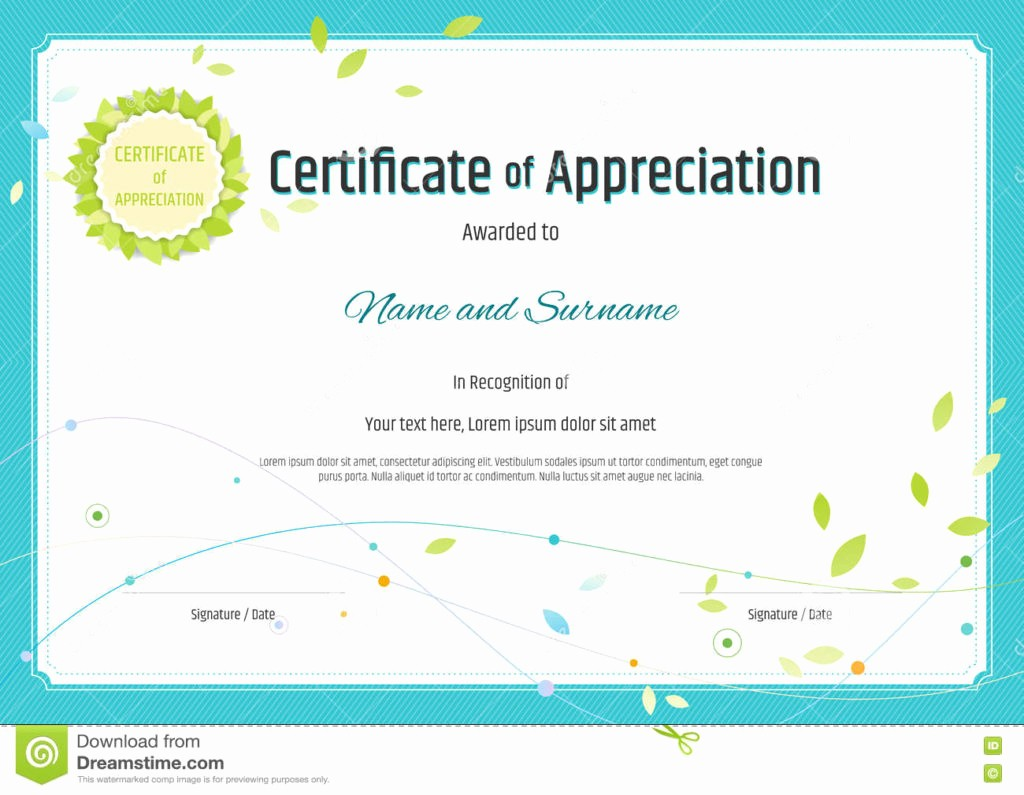 Template for Certificate Of Appreciation Elegant Printable Printable Certificate Of Appreciation Templates