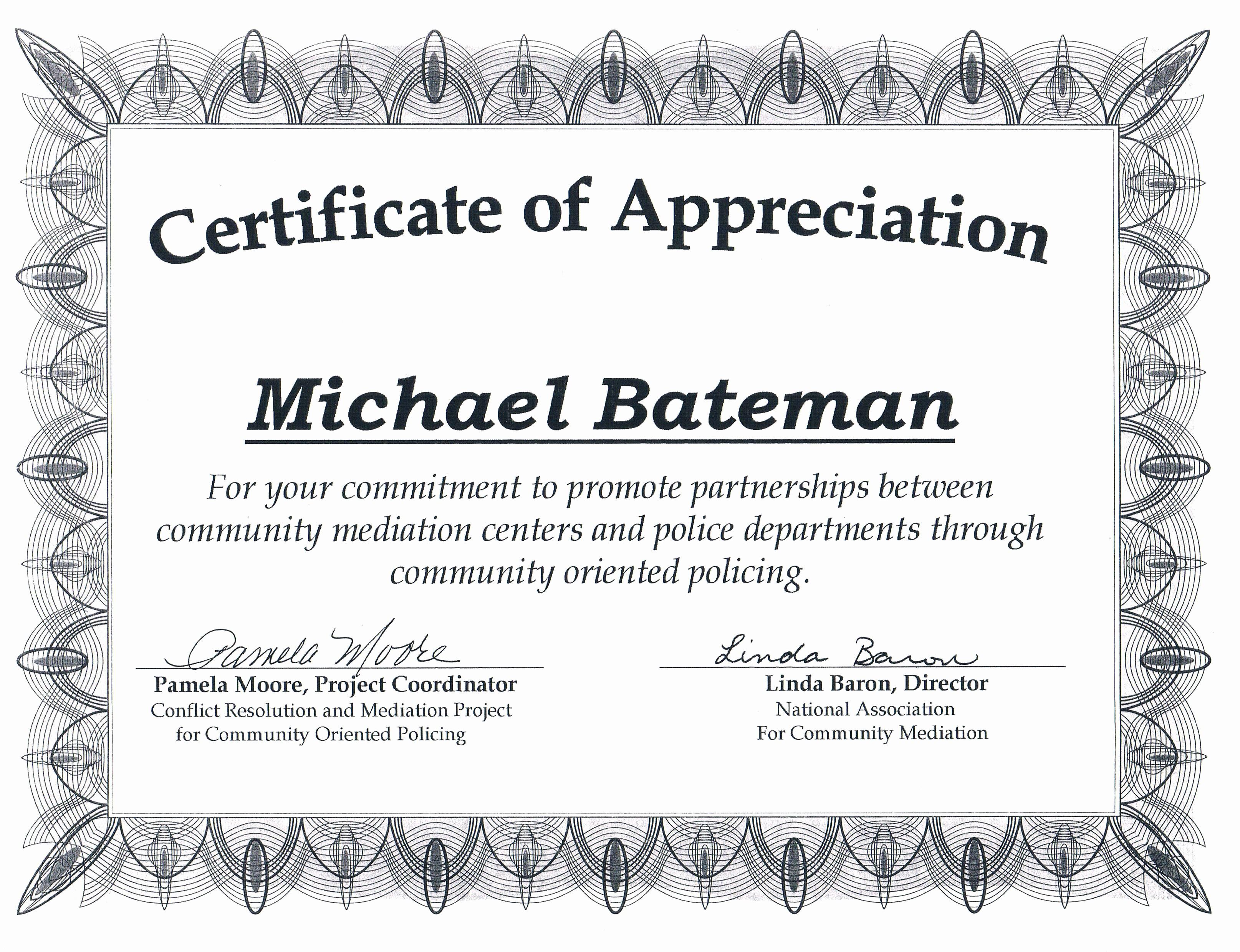 Template for Certificate Of Appreciation Fresh Award Certificates