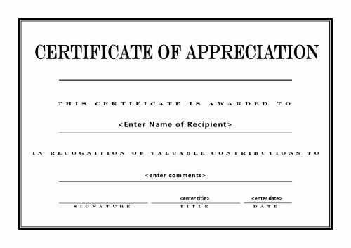 Template for Certificate Of Appreciation Inspirational Certificates Of Appreciation 004
