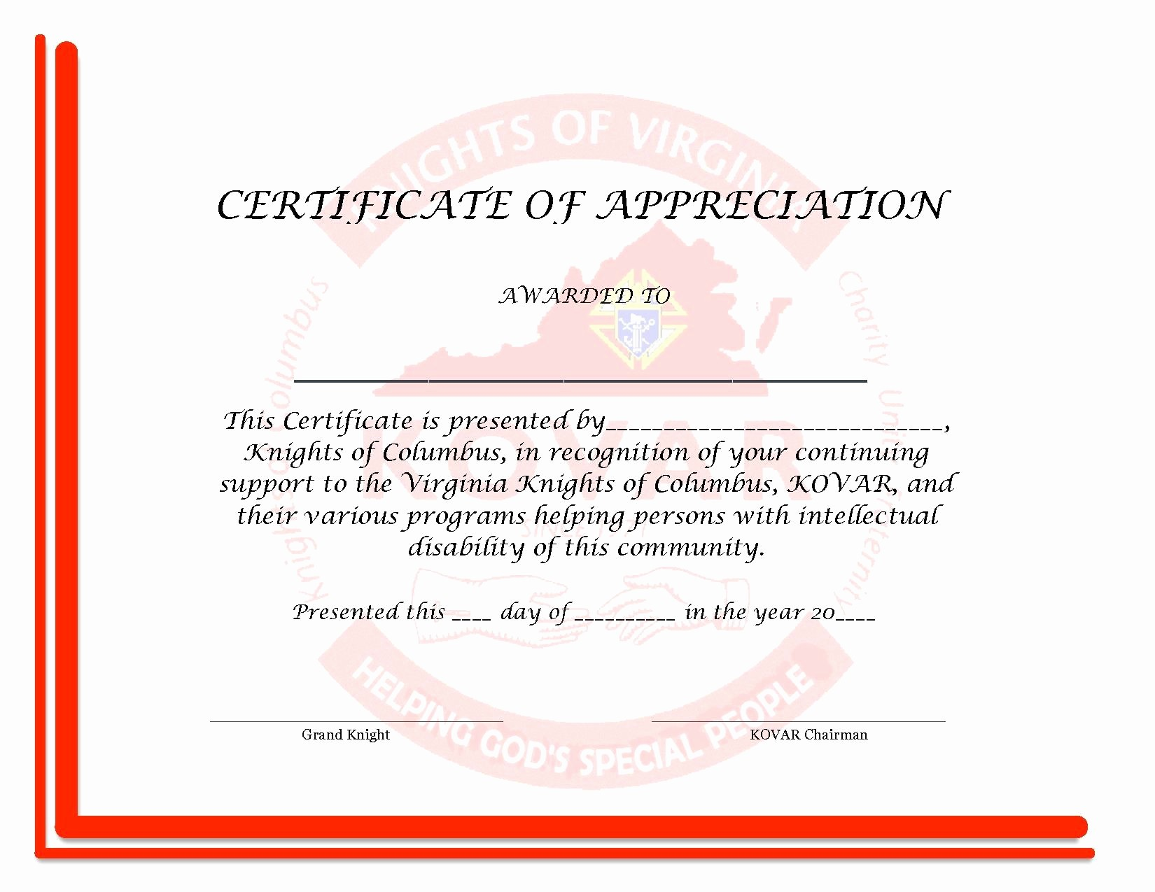 Template for Certificate Of Appreciation Lovely Certificate Appreciation Template