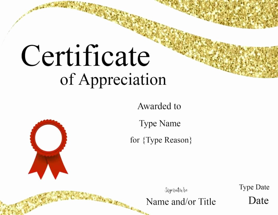 Template for Certificate Of Appreciation Lovely Certificate Templates