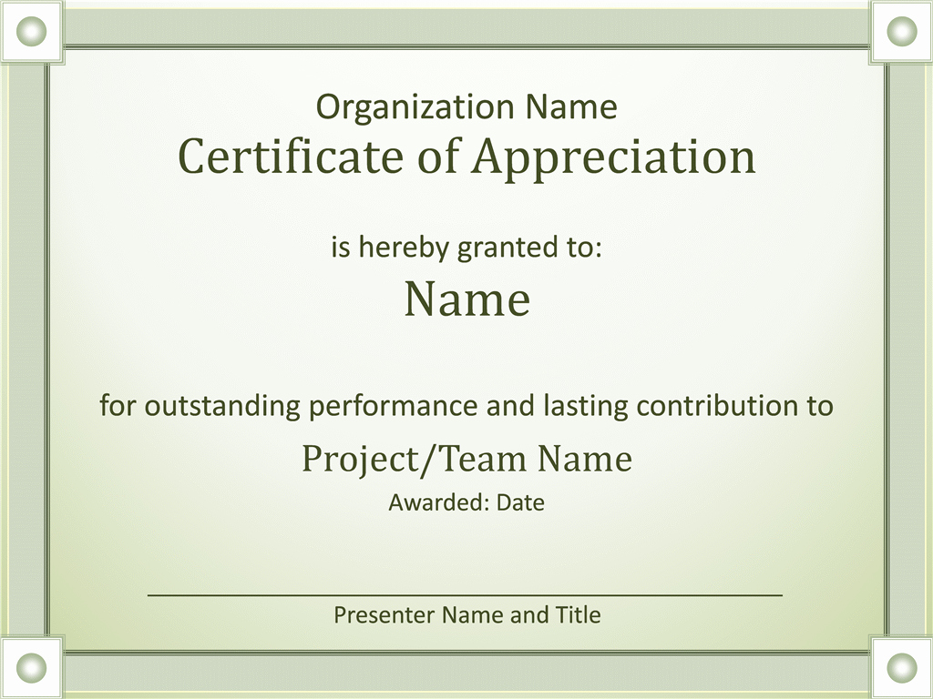 Template for Certificate Of Appreciation Lovely Certificates Fice