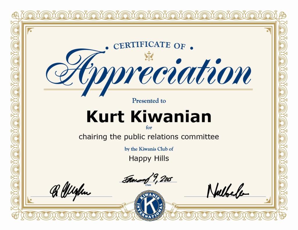 Template for Certificate Of Appreciation Lovely Printable Certificates Of Appreciation