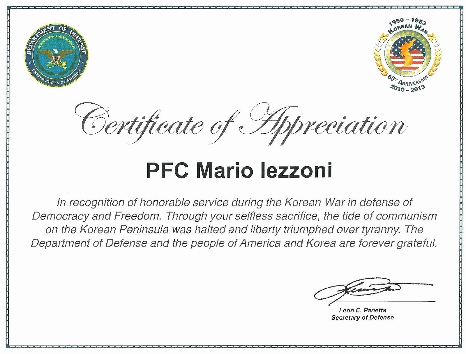 Template for Certificate Of Appreciation Lovely Template Volunteer Certificate Appreciation Template
