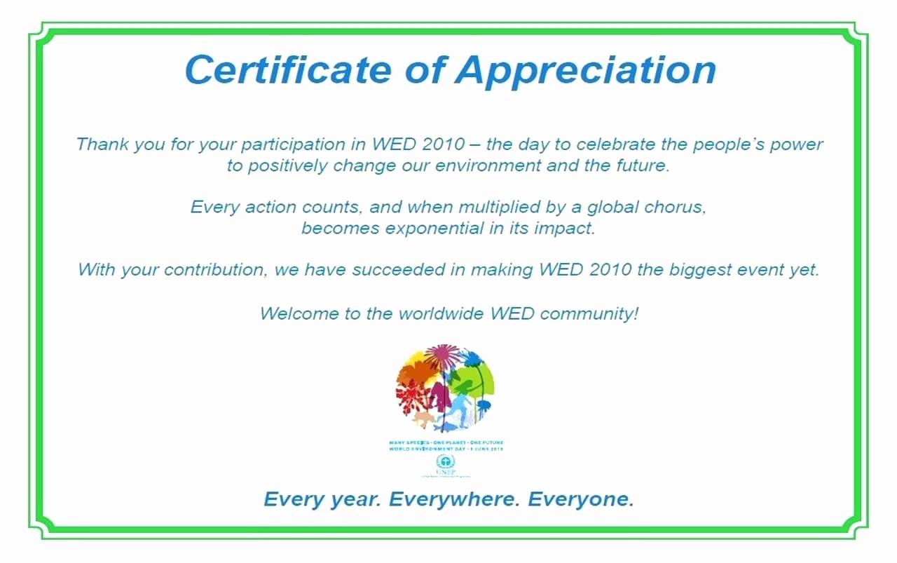 18 appreciation certificates wording