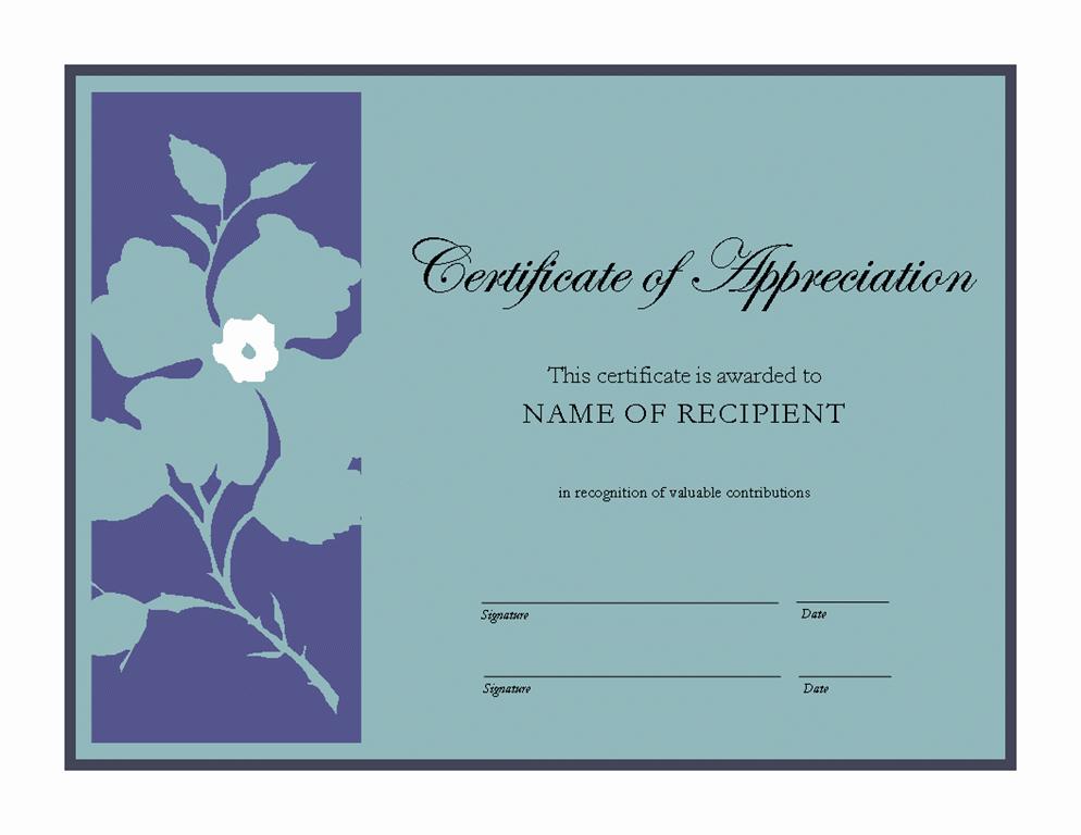 Template for Certificate Of Appreciation Unique Certificate Of Appreciation