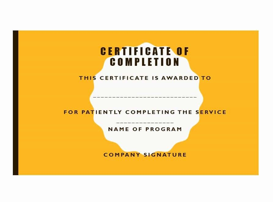 Template for Certificate Of Completion Lovely 40 Fantastic Certificate Of Pletion Templates [word