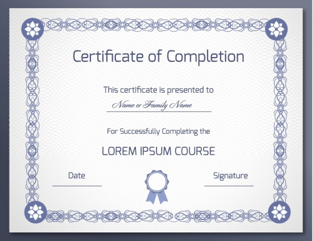 Template for Certificate Of Completion New 18 Free Certificate Of Pletion Templates