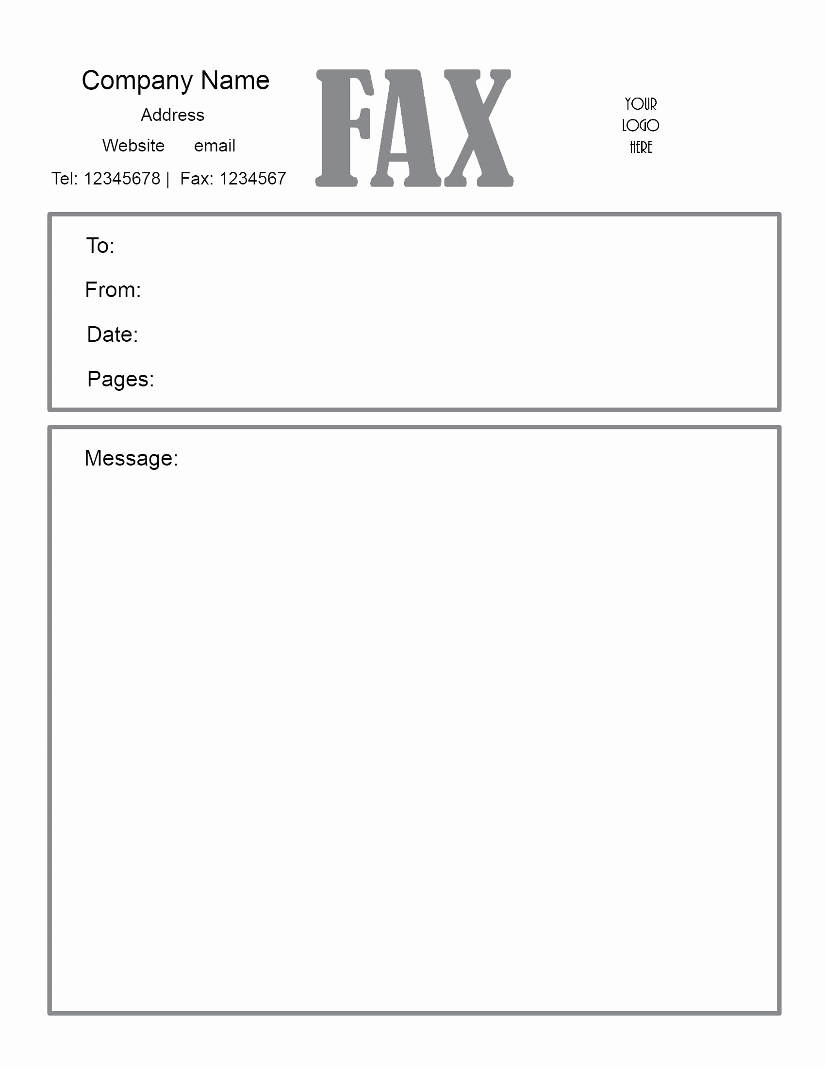 Template for Cover Letter Free Awesome Fax Cover Sheet Pdf Free Download