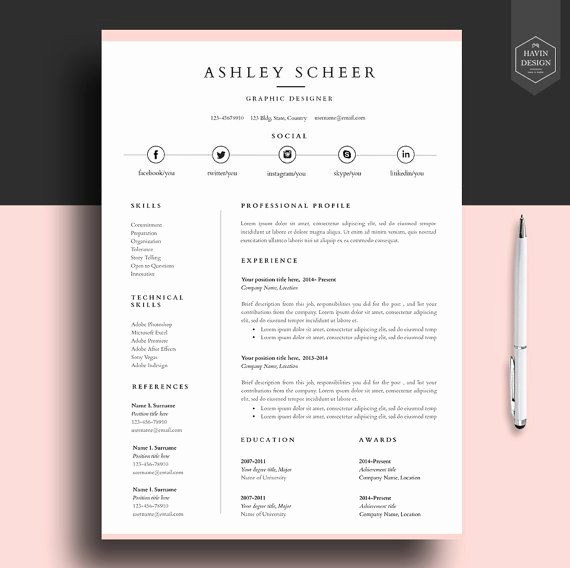 Template for Cover Letter Free Beautiful Professional Resume Template Resume Template for Word Cv