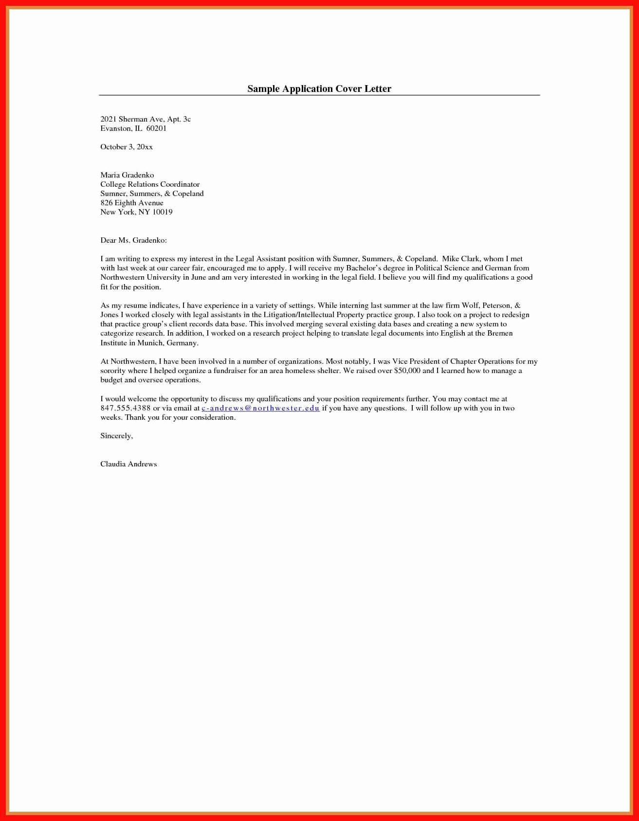 Template for Cover Letter Free Fresh Cover Letter Presentation