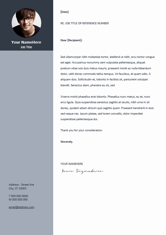 Template for Cover Letter Free Inspirational orienta Free Professional Resume Cv Template