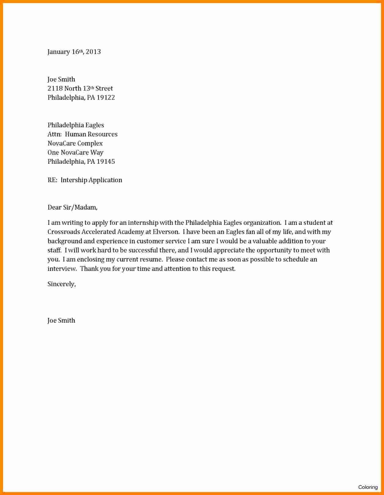 Template for Cover Letter Free Lovely 12 Cv Letter Sample Pdf