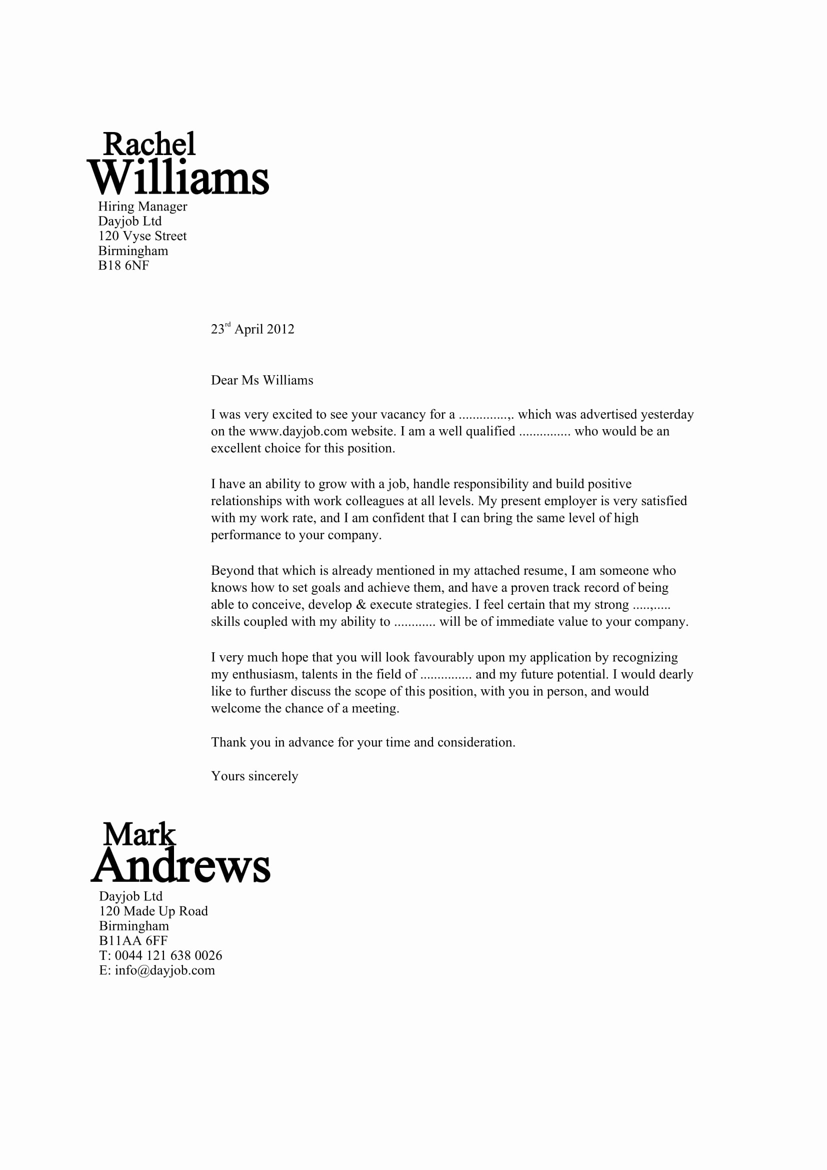 Template for Cover Letter Free Unique 32 Best Sample Cover Letter Examples for Job Applicants