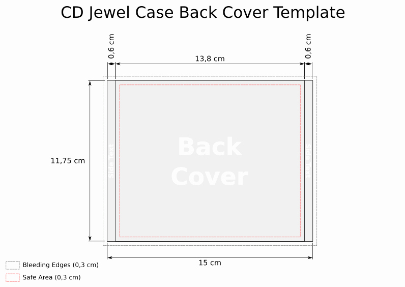 Template for Dvd Case Insert Best Of Cd Template Jewel Case Back