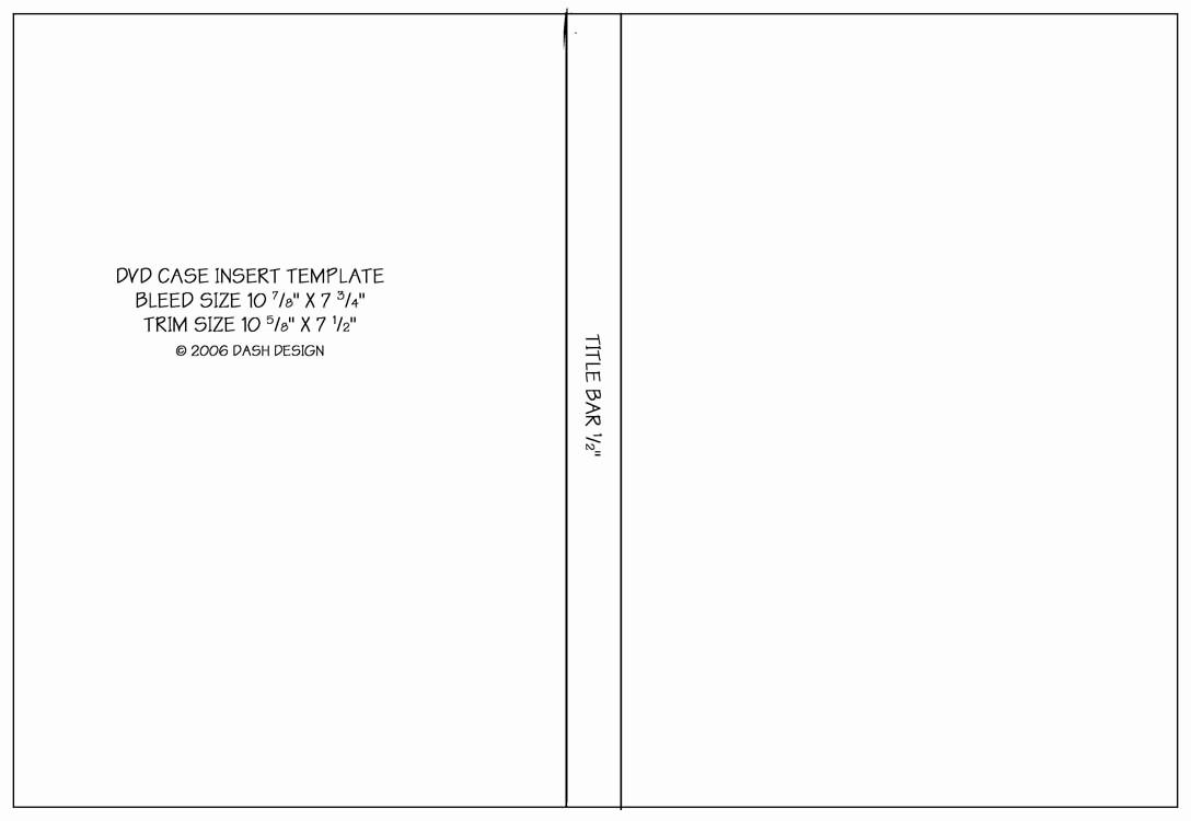 Template for Dvd Case Insert Elegant Cd Dvd Design Templates