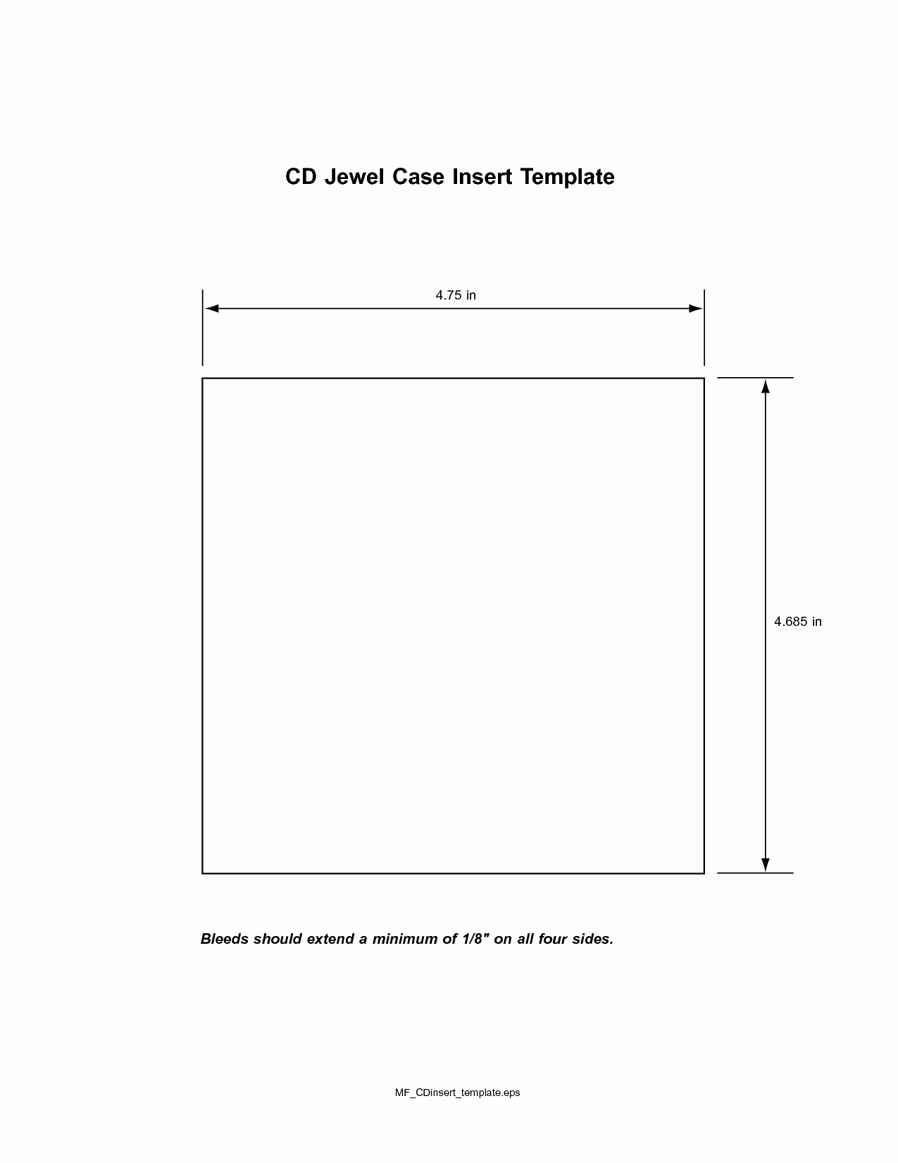 Template for Dvd Case Insert Unique Cd Insert Template