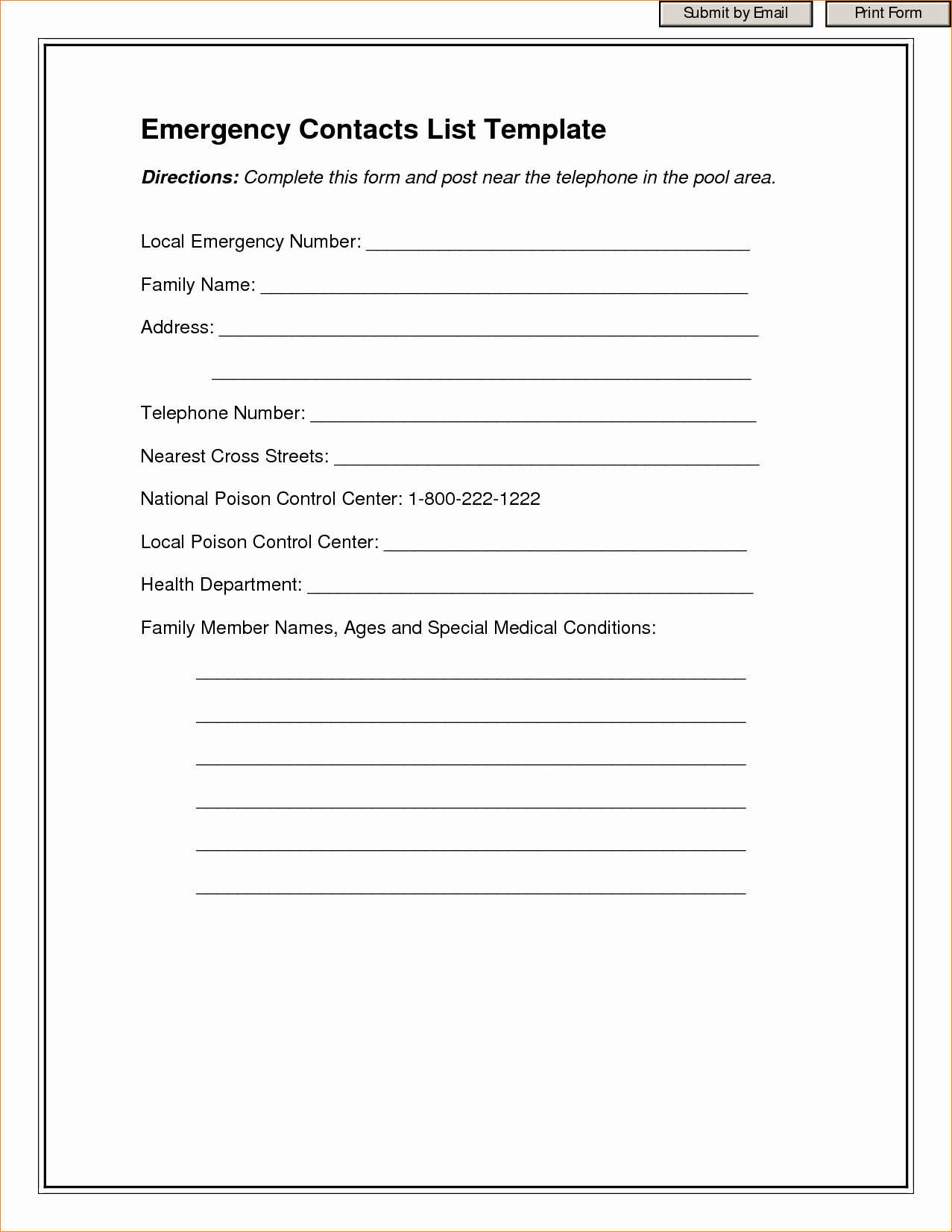 Template for Emergency Contact Information Fresh Contact Information Template Word Portablegasgrillweber