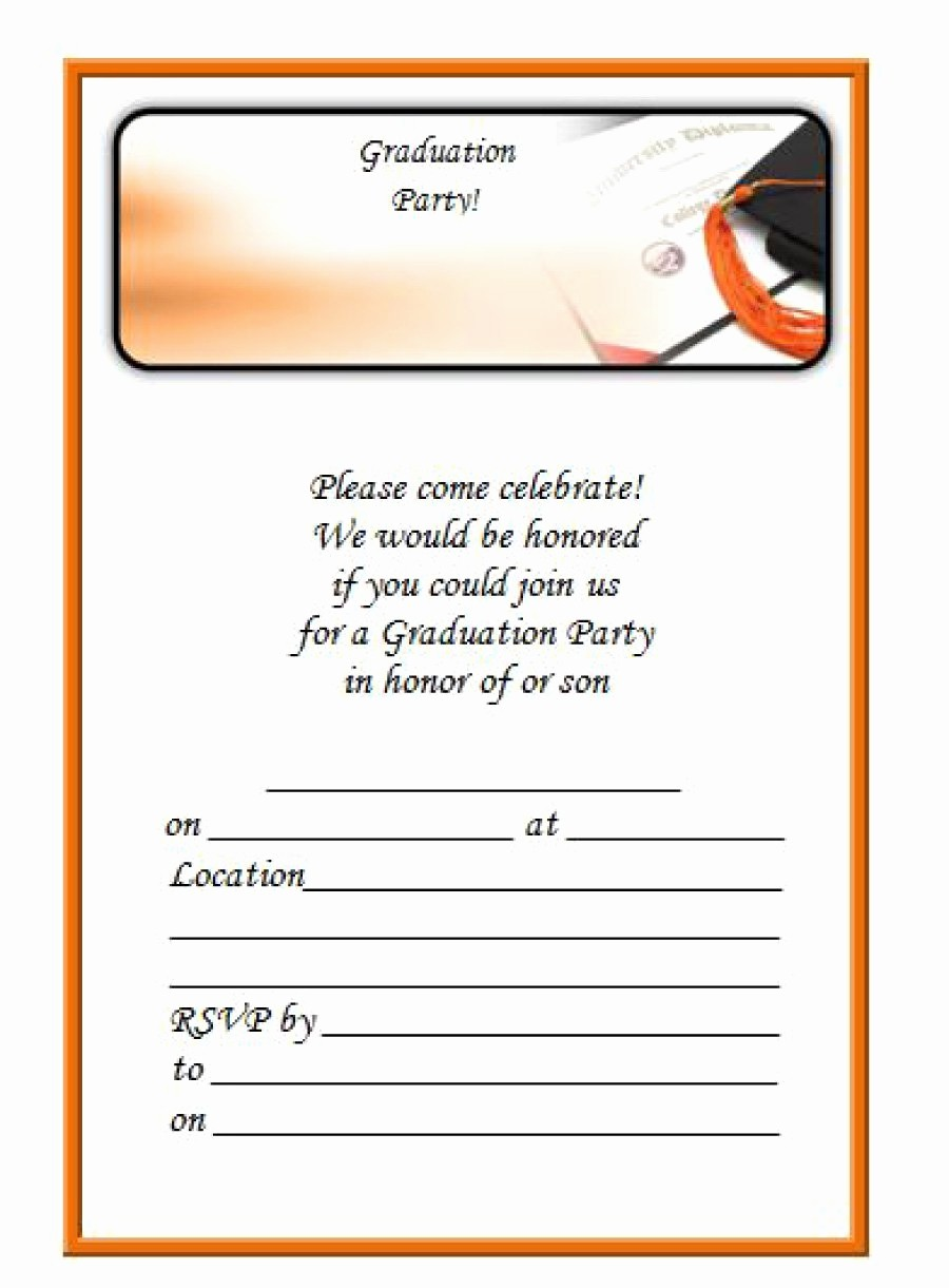 Template for Graduation Party Invitation Awesome 40 Free Graduation Invitation Templates Template Lab