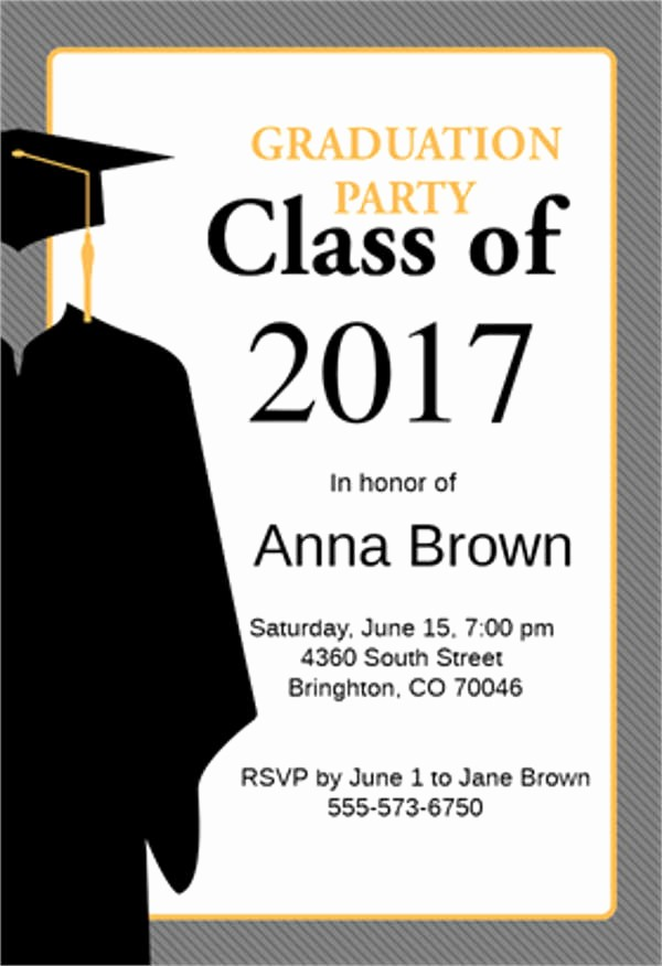 Template for Graduation Party Invitation Awesome 9 Graduation Menu Templates Psd Vector Eps Ai