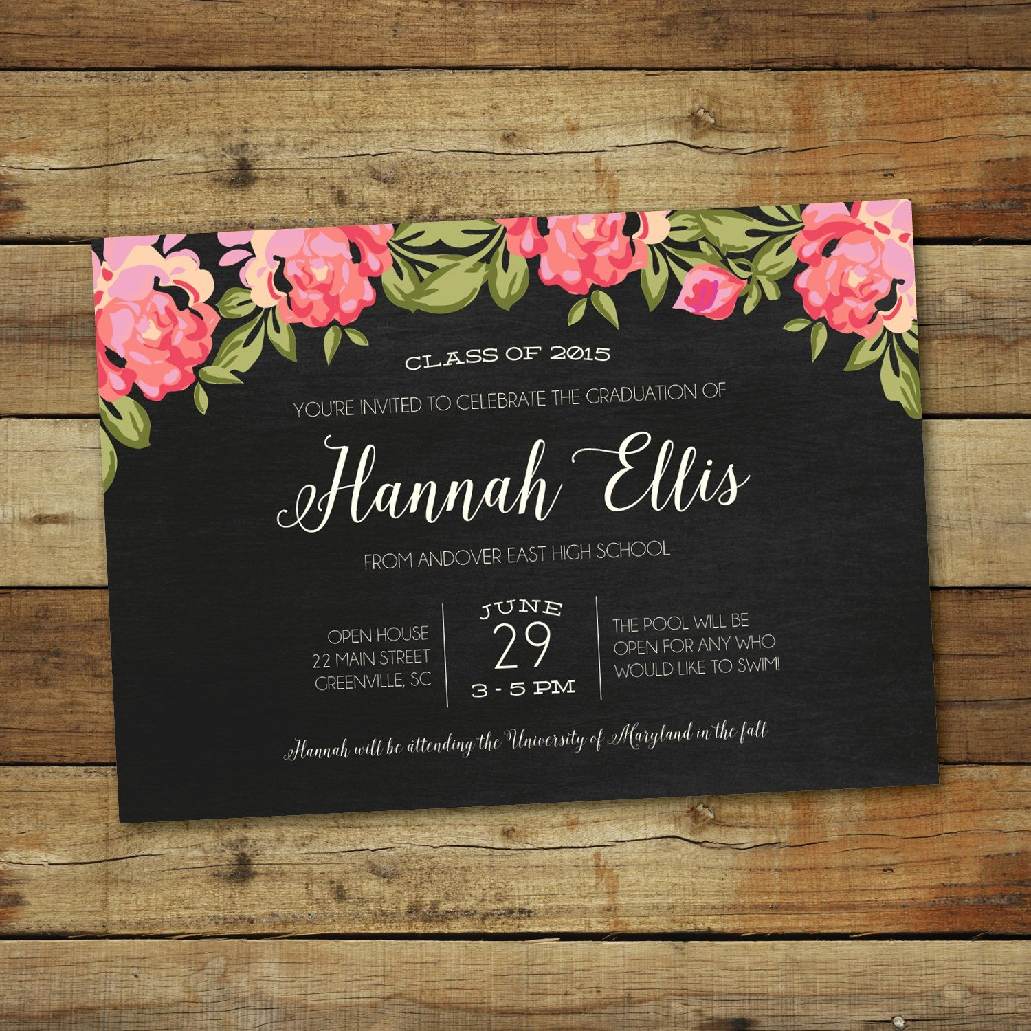 Template for Graduation Party Invitation Beautiful Graduation Invitation Graduation Invitation Templates