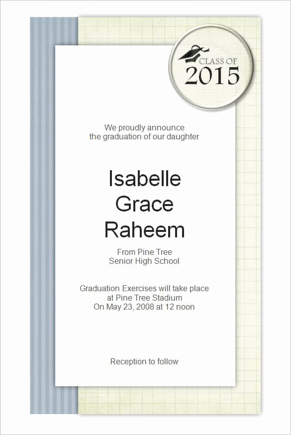 Template for Graduation Party Invitation Best Of 69 Microsoft Invitation Templates Word