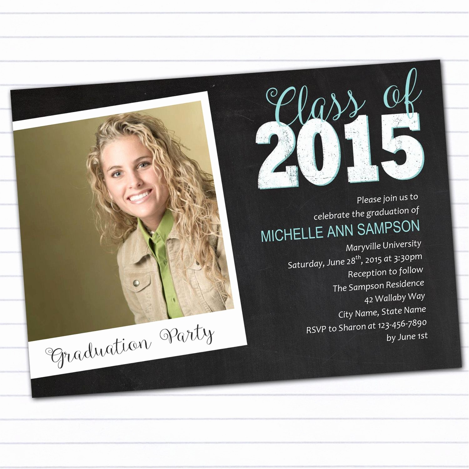 Template for Graduation Party Invitation Best Of College Graduation Party Invitations