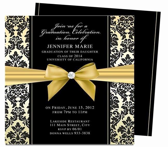 Template for Graduation Party Invitation Best Of Graduation Invitations Templates