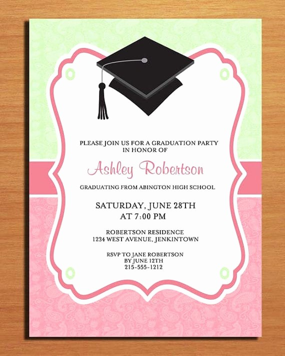 Template for Graduation Party Invitation Fresh Free Printable Graduation Party Invitation Template