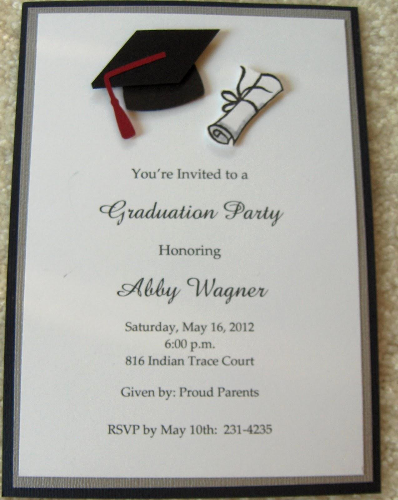 Template for Graduation Party Invitation Inspirational College Graduation Party Invitations