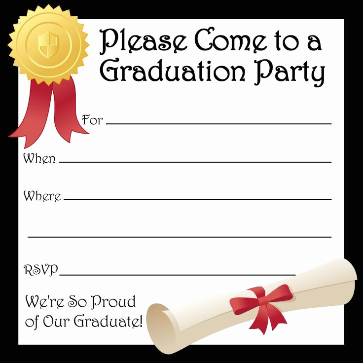 Template for Graduation Party Invitation Inspirational Free Printable Graduation Party Invitations