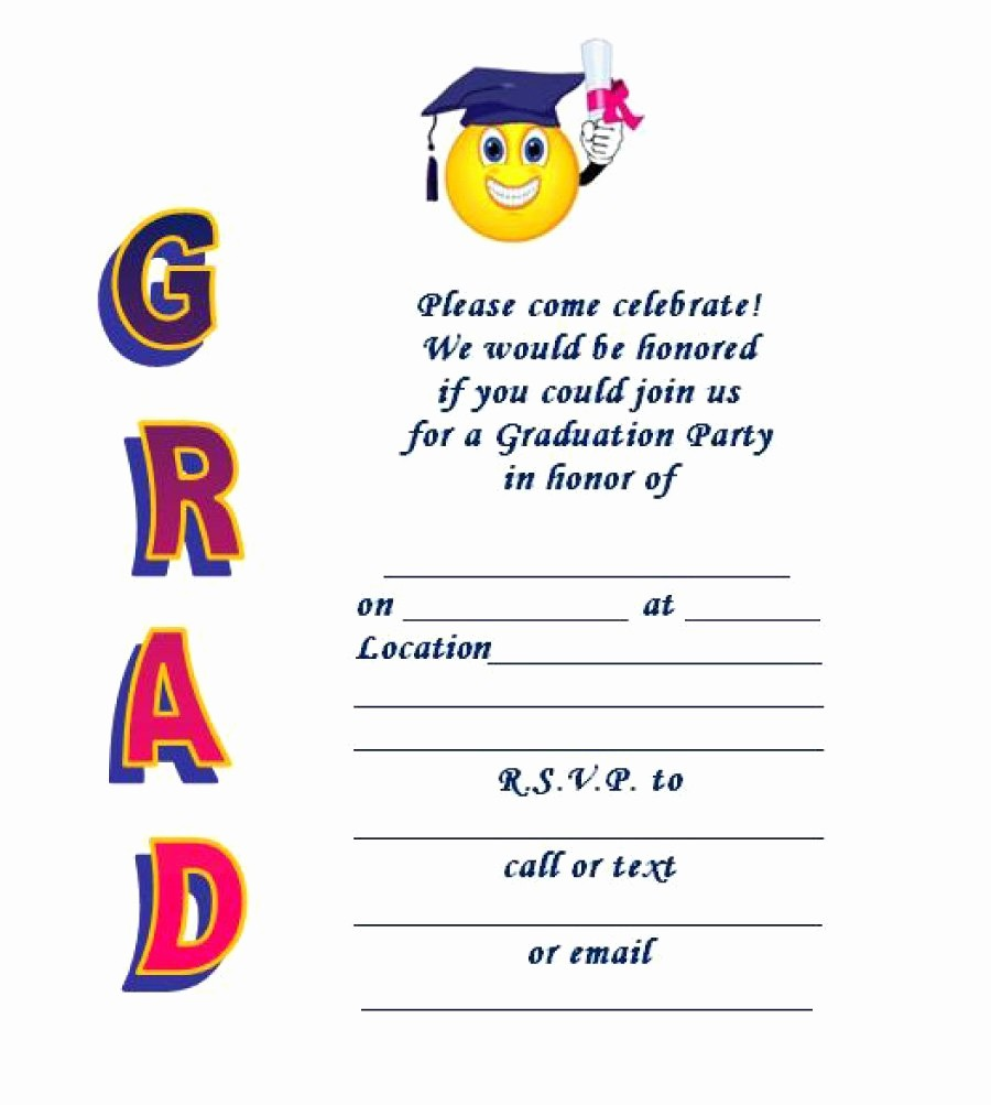 Template for Graduation Party Invitation Lovely 40 Free Graduation Invitation Templates Template Lab