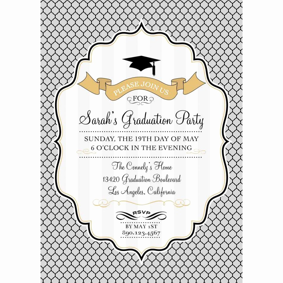 Template for Graduation Party Invitation New Card Template Graduation Invitation Template Card