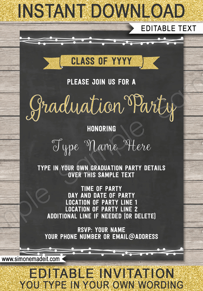 Template for Graduation Party Invitation New Graduation Party Invitations