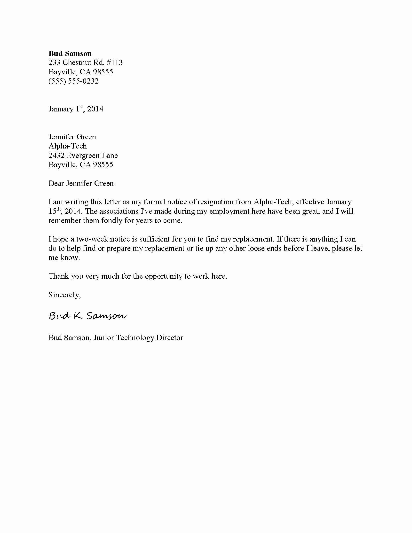 Template for Letter Of Resignation Elegant Letter Templates