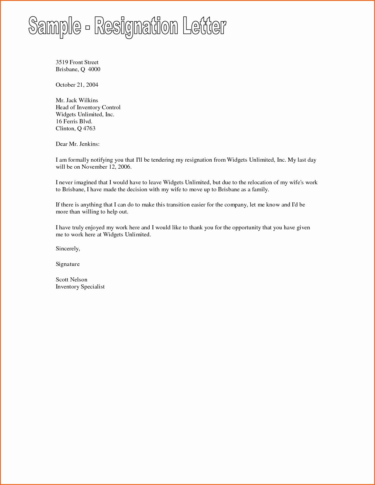Template for Letter Of Resignation Lovely 7 Resignation Letter Examples Bud Template Letter