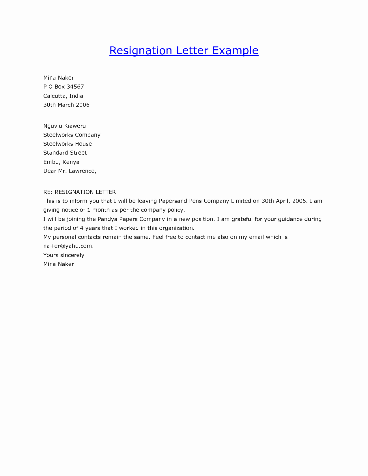 Template for Letter Of Resignation Luxury Examples Letters Resignation