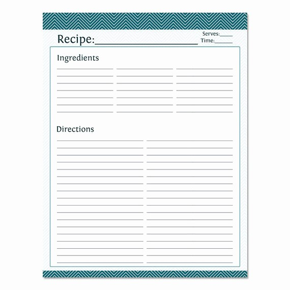 Template for Recipes Full Page Beautiful Blank Recipe Template Full Page Templates Resume