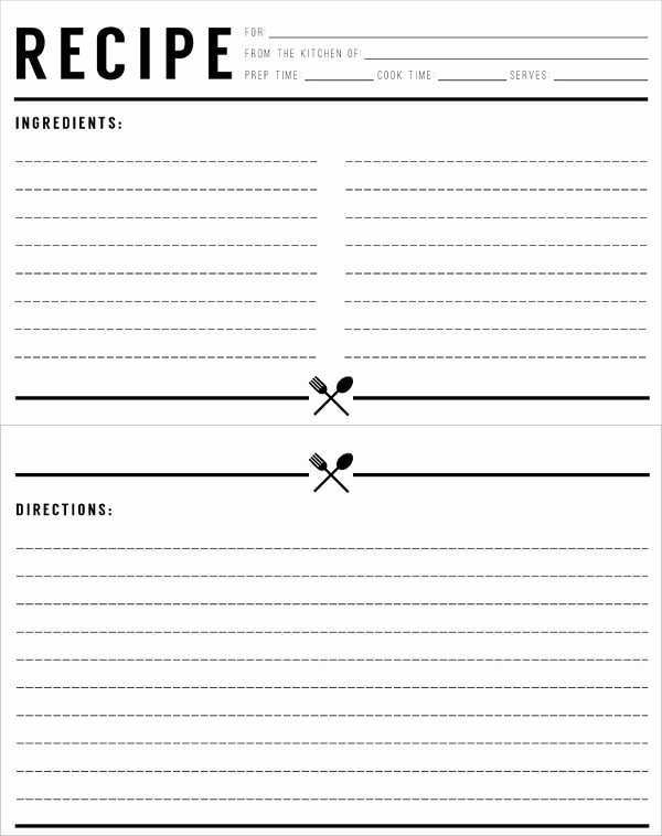 Template for Recipes Full Page Best Of Free Printable Full Page Recipe Templates