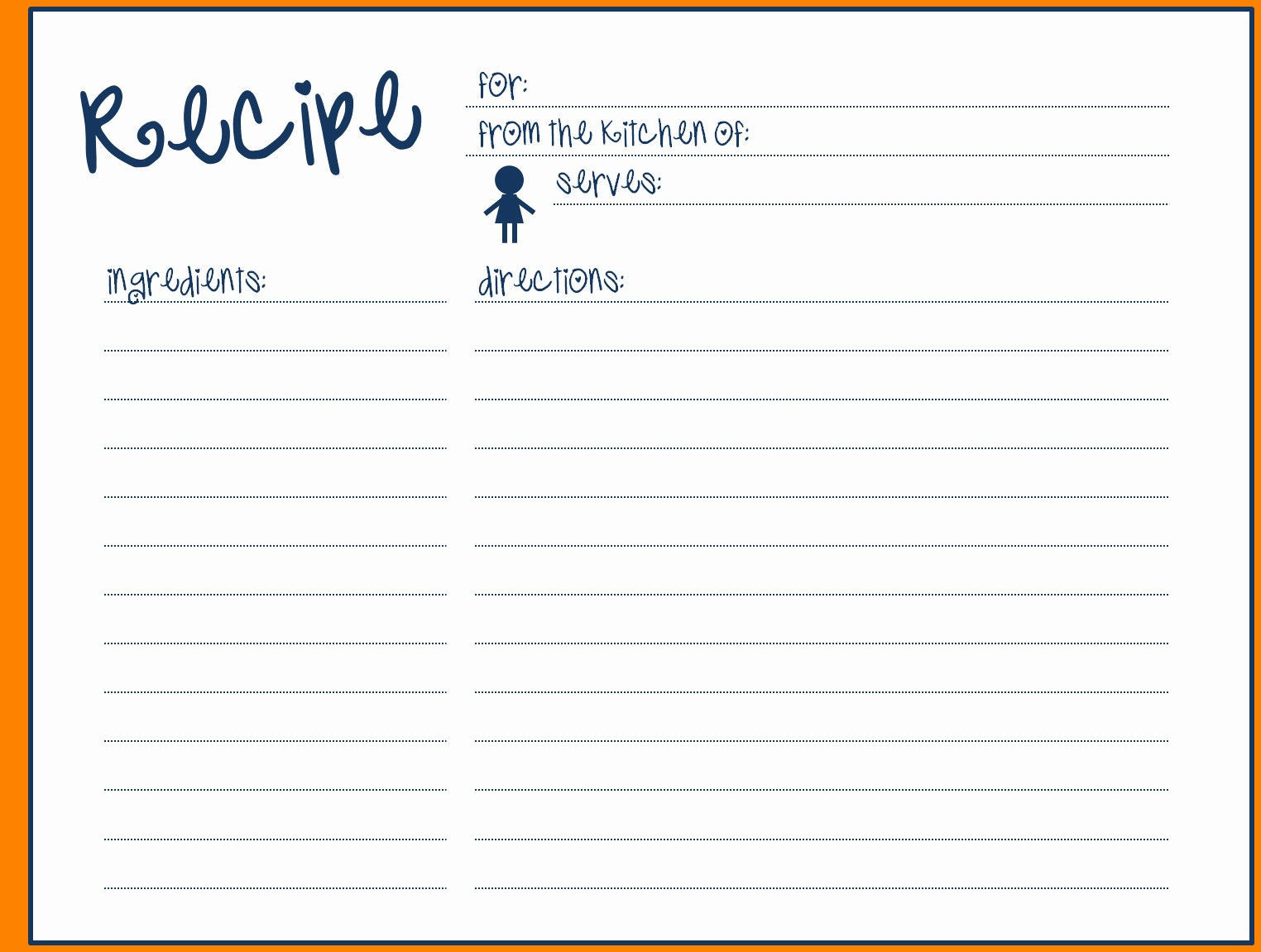 Template for Recipes Full Page Fresh Full Page Recipe Template for Word