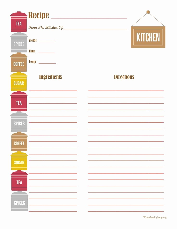 Template for Recipes Full Page Inspirational 478 Best Images About Printable Recipe Cards On Pinterest
