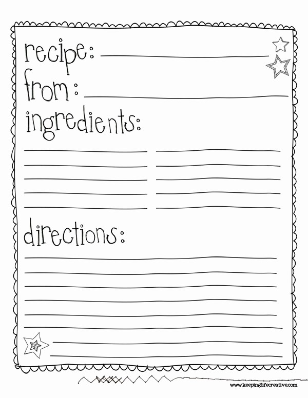 Template for Recipes Full Page Luxury 6 Best Of Free Printable Recipe Sheet Templates