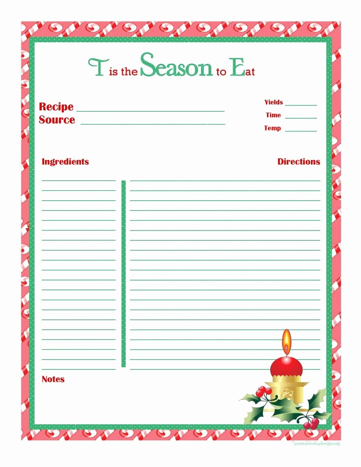 Template for Recipes Full Page Luxury Christmas Recipe Card Full Page Oct 31