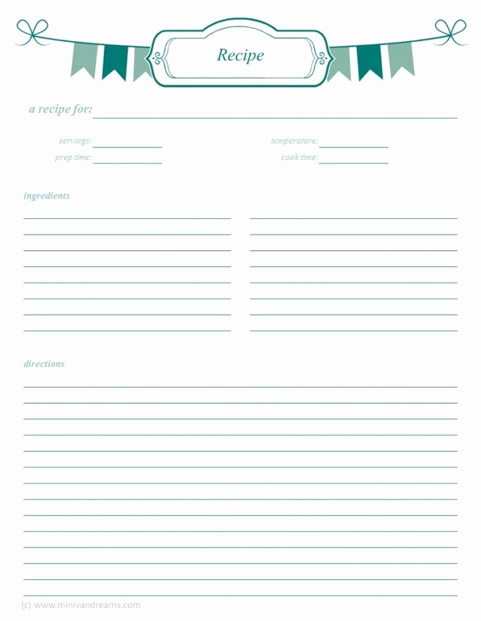 Template for Recipes Full Page New 8 Best Of Printable Recipe Cards whole Page Free