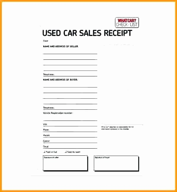 Template for Selling A Car Beautiful Selling Car Receipt Bill Sale Used Car Sellers Receipt