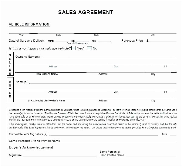 Template for Selling A Car Best Of Car Sale Agreement Template south Africa Selling A