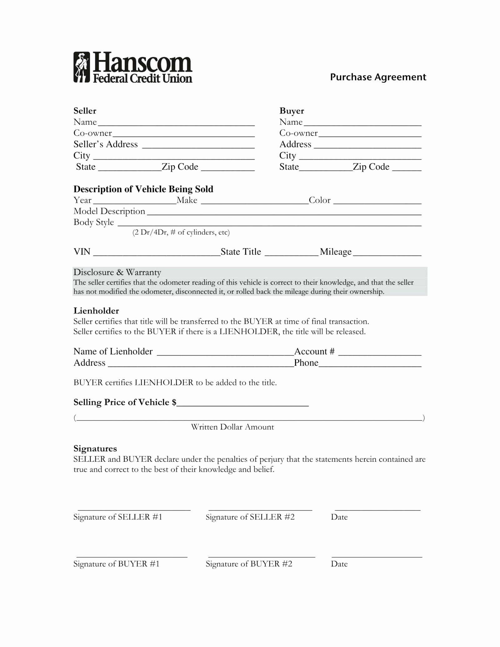 Template for Selling A Car Inspirational Contract Template for Selling A Car